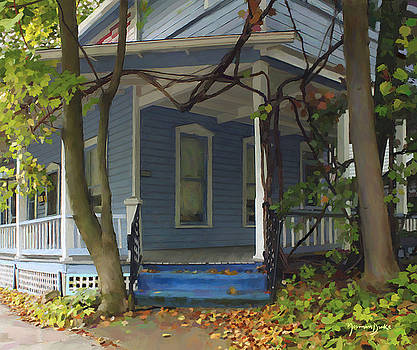 Blue House by Norman Drake