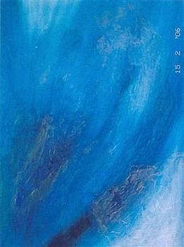 Blue I by Gunter  Tanzerel