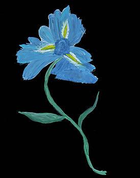 Blue Iris Abstract by Judy Huck