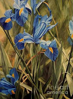 Blue Iris by Laurie Rohner