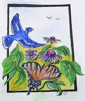 Blue Jay Fantasy by Clyde J Kell