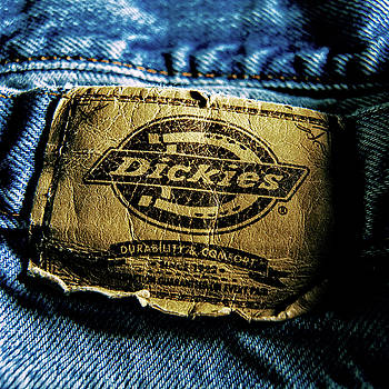 Blue Jeans Logo Tag Close-up Detail by YoPedro