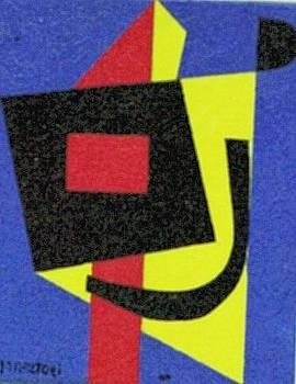 Blue Knight - Abstract by Nicholas Martori