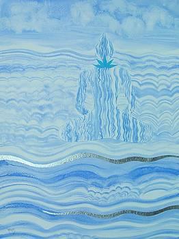 Blue Lace Agate Throat Chakra by Jennifer Baird