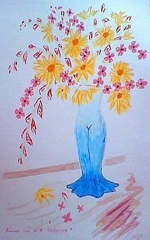 Blue Lady by Maina  Kabiru