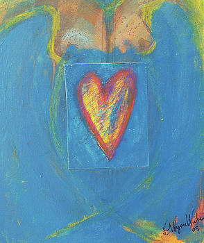 Blue Lady With Heart by Laurie Wynne Weber