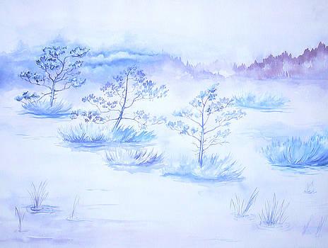 Blue landscape by Marina Fetting