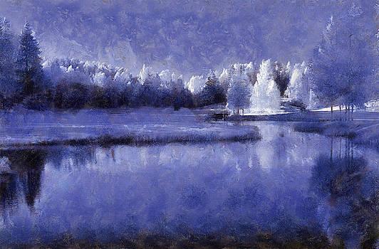 Blue Landscape Scene A by Roger Eugen Fadum