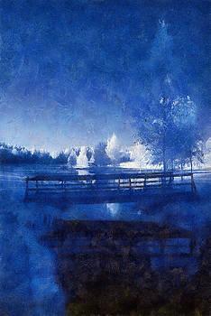 Blue Landscape Scene B by Roger Eugen Fadum