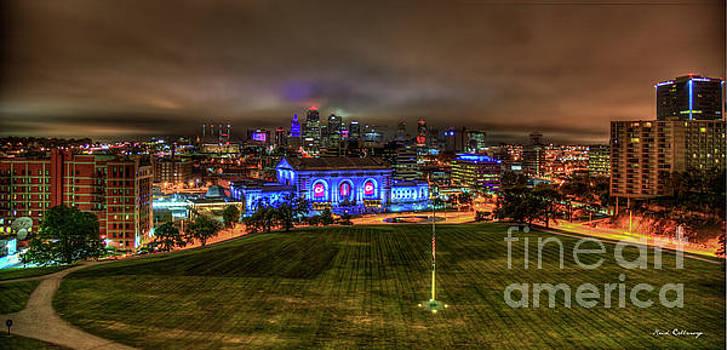 Reid Callaway - Blue Lights On Kansas City Union Station Kansas City Missouri Art