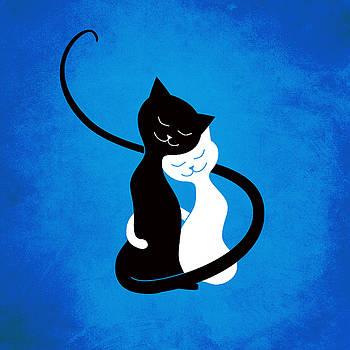 Blue Love Cats by Boriana Giormova