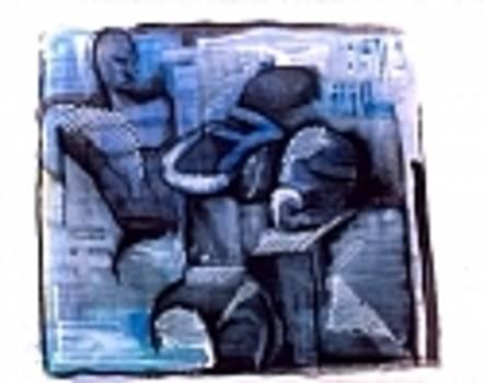 Blue Man 2000  by Eugene Schroeder