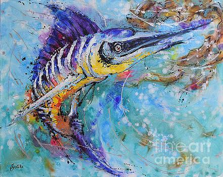 Blue Marlin's Twist by Jyotika Shroff