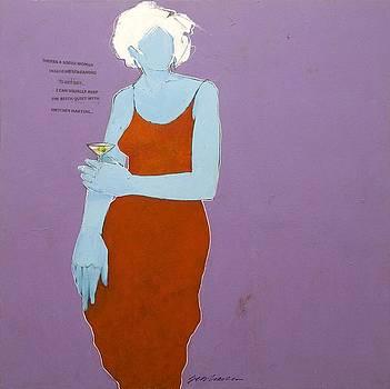 Blue Martini Lady by Bert Seabourn