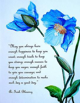 Blue Meconopsis Poppy By Karin Dawn Kelshall Best