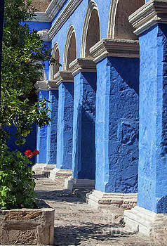 Blue monastery by Patricia Hofmeester