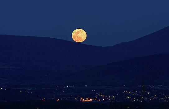 Blue Moon Over Luray 1 by Lara Ellis