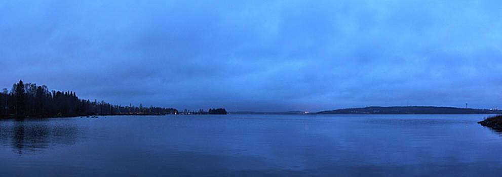 Blue Morning Pyhajarvi panorama by Jouko Lehto
