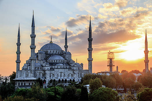 Blue Mosque at Sunset by Emily M Wilson