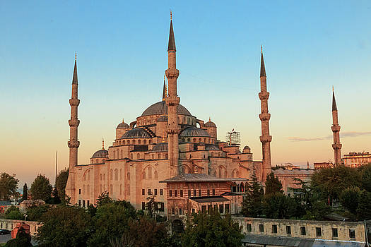 Blue Mosque Blue Hour by Emily M Wilson