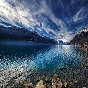 Blue mountains by Philippe Sainte-Laudy