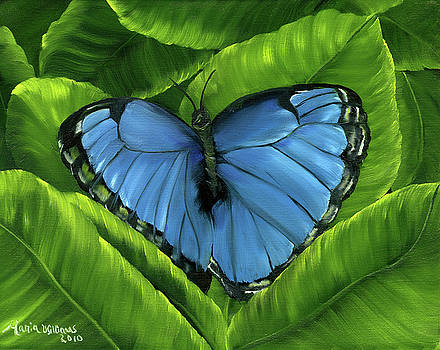 Blue Night Butterfly by Maria Williams