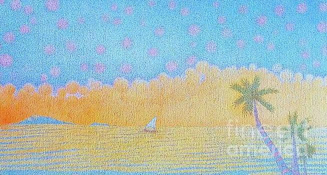 Blue Nile by Assumpta Tafari Tafrow Neo-Impressionist Works on Paper