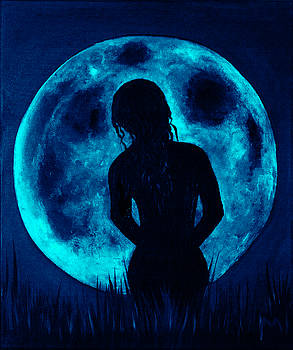 Blue nude moon by Rolly Mouchaty