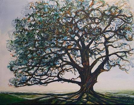 Blue Oak by Michele Hollister - for Nancy Asbell