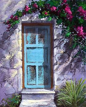 Blue old door in Mexico  by Fernando Gonzalez