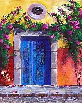 Blue old door in Spring in Mexico  by Fernando Gonzalez