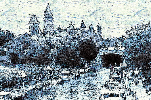 Art America Gallery Peter Potter - Blue Ottawa Skyline