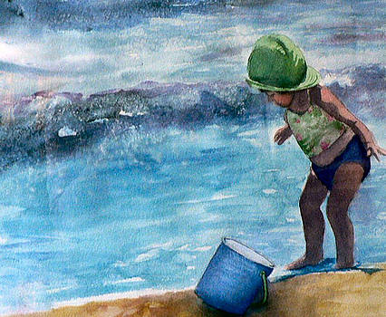 Blue Pail by Lynne Atwood