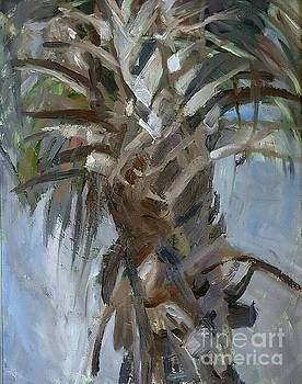 Blue palm by Anna Kowalewicz