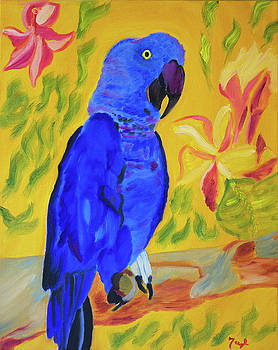 Parrot Pretty in Blue by Meryl Goudey