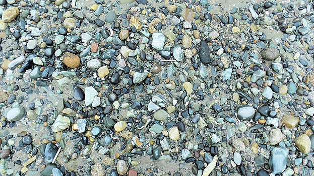 Blue Pebbles on Shingle Beach by Mike O'Hagan