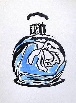 Blue Perfume Bottle by Sacha Grossel