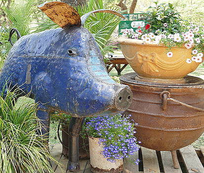 Blue Pig by Jeanette Brown