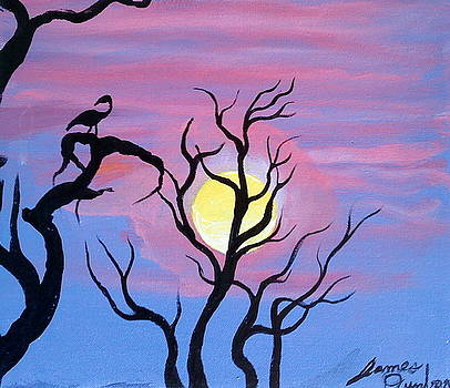 Blue Pink Sunset Of Africa by Portland Art Creations