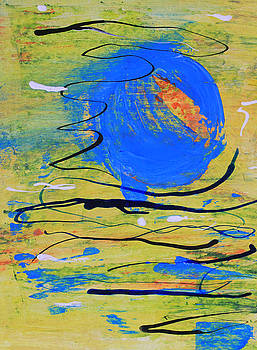 Blue Planet Abstract by April Burton