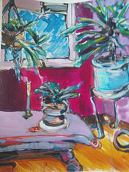 Blue Planter by Karen Geiger