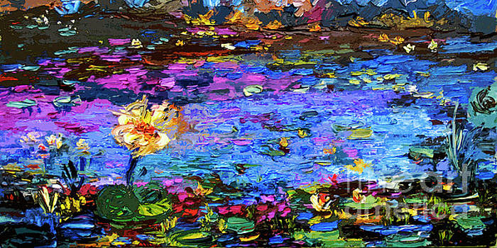 Ginette Callaway - Blue Pond Modern Impressionist Painting by Gin