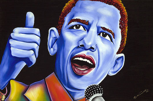 Blue pop President Barack Obama by Nannette Harris