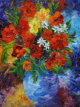 Mary Jo Zorad - Blue Pot Floral