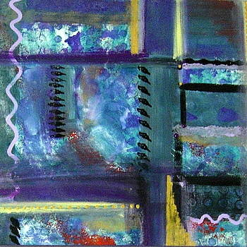 Blue Purple Abstract by Jackie Hoeksema