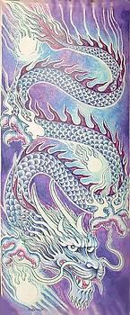 Blue Purple Japanese Dragon by Jacki Randall