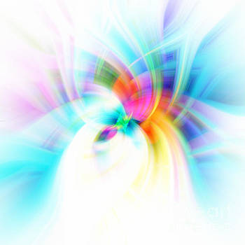 Blue Rainbow Abstract by Phill Petrovic