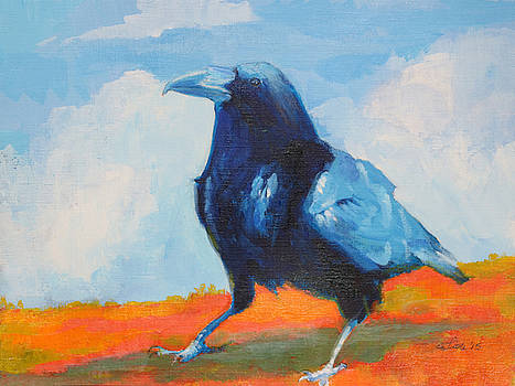 Blue Raven by Pam Little