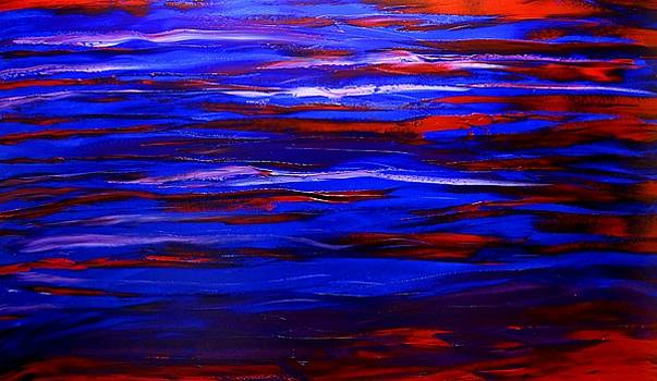 Blue Red Enigma #1 by Portland Art Creations
