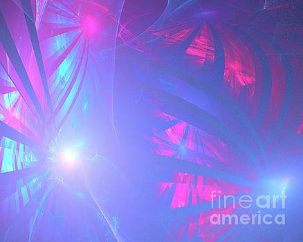 Blue Red Fronds by Kim Sy Ok
